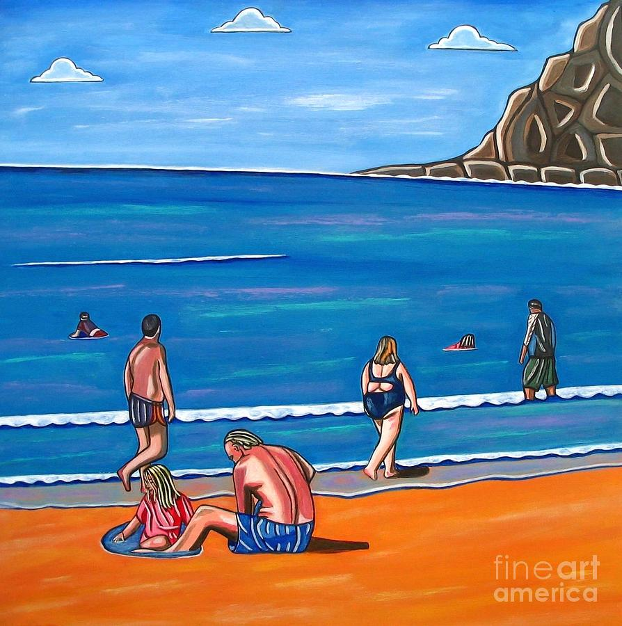 Sand Paintings Painting - A Perfect Day by Sandra Marie Adams