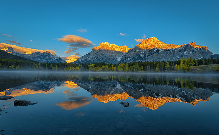 Canada Photograph - A Perfect Morning In Canadian Rockies by Michael Zheng