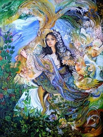 Persian Painting Painting - A Picture Of Affection by Sonia P