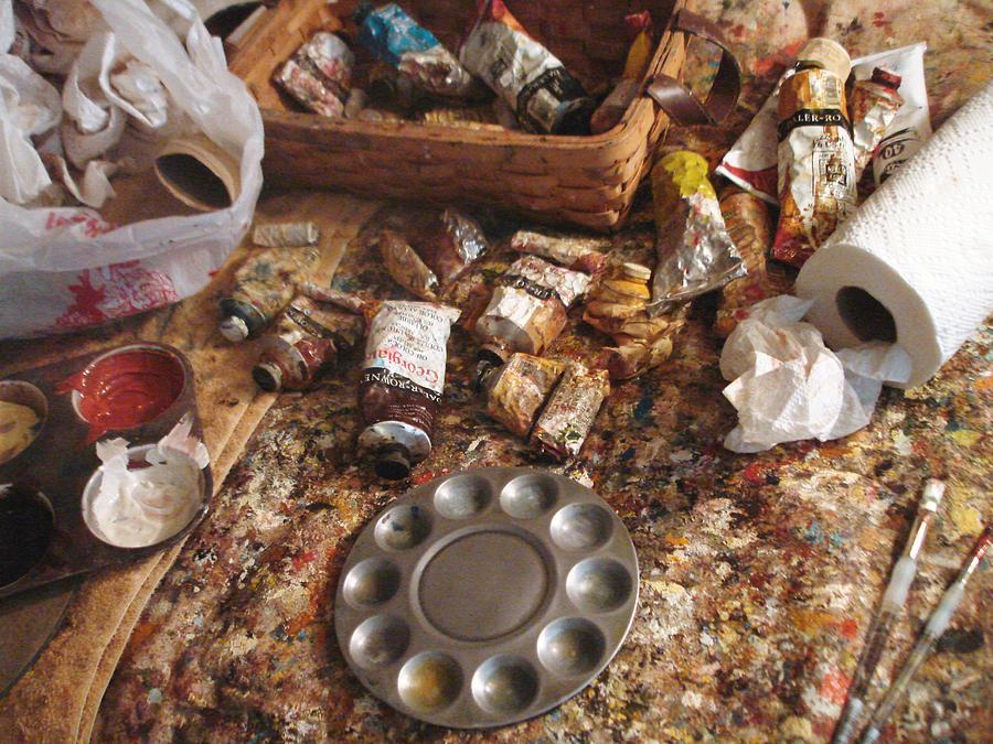 Paints Photograph - A Piece Of The Life Of An Artist by Hiroko Sakai