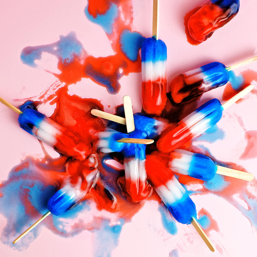 A Pile Of Red, White, And Blue Ice Pops Photograph by Juj Winn