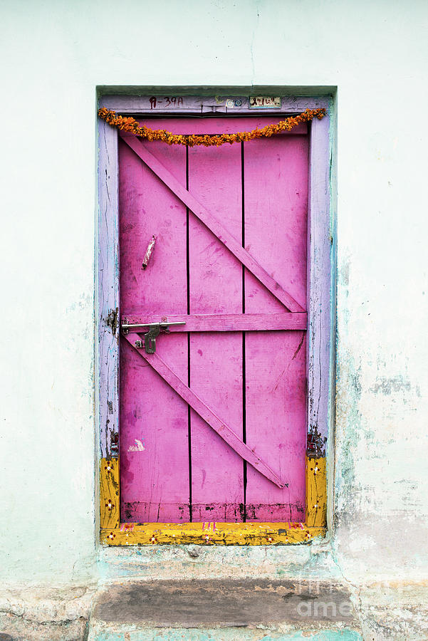 Old Photograph - A Pink Door by Tim Gainey