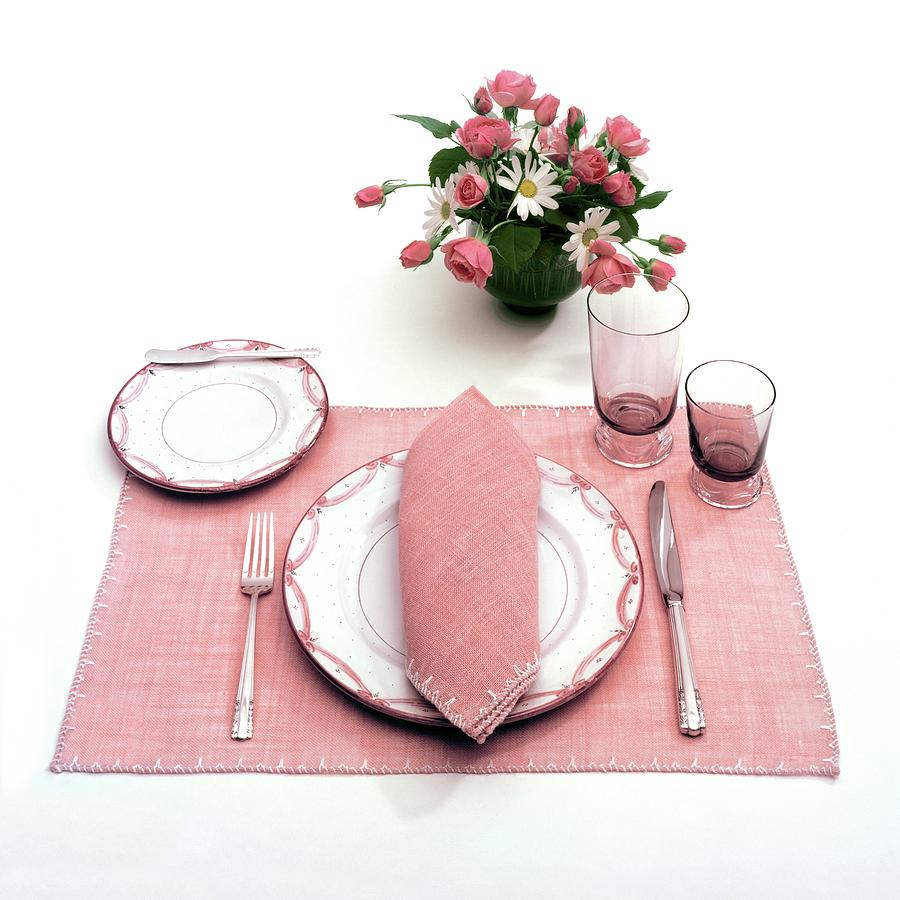 A Pink Table Setting Photograph by Haanel Cassidy