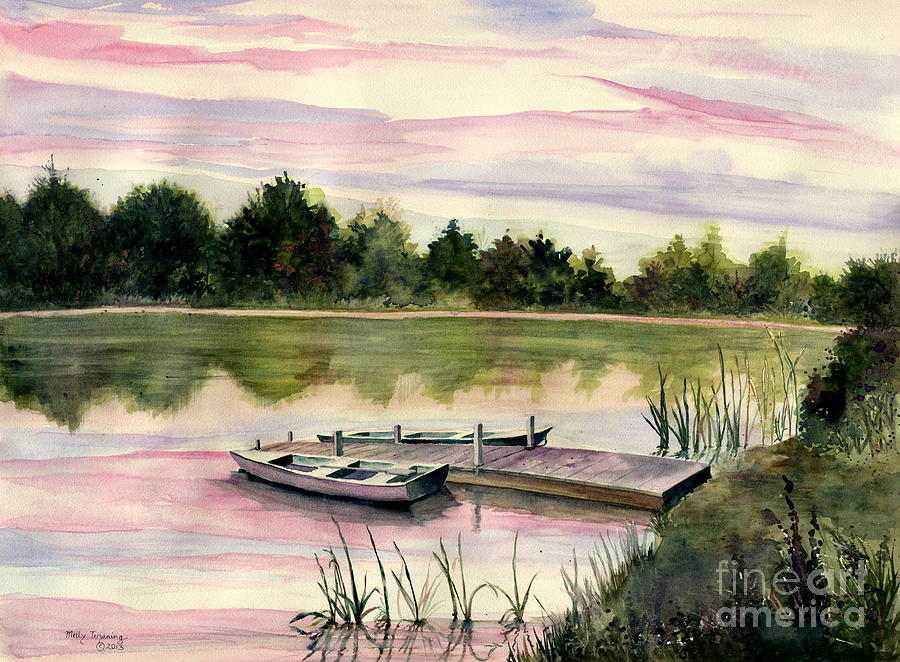 Sunset Painting - A Place In My Heart by Melly Terpening