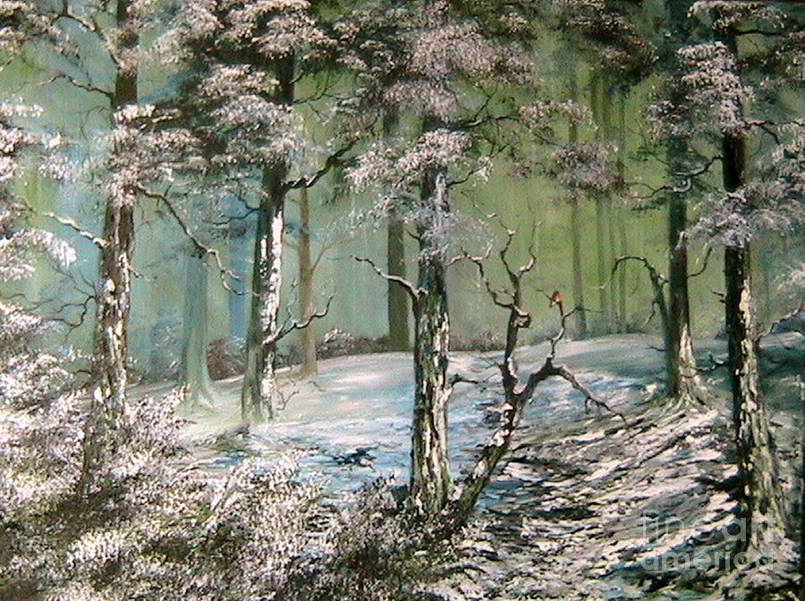Cannock Chase Painting - A Place To Shelter by Jean Walker
