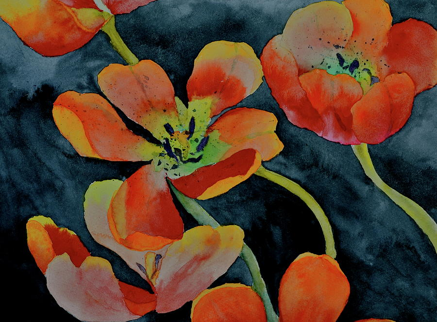Tulips Painting - A Place To Start by Beverley Harper Tinsley