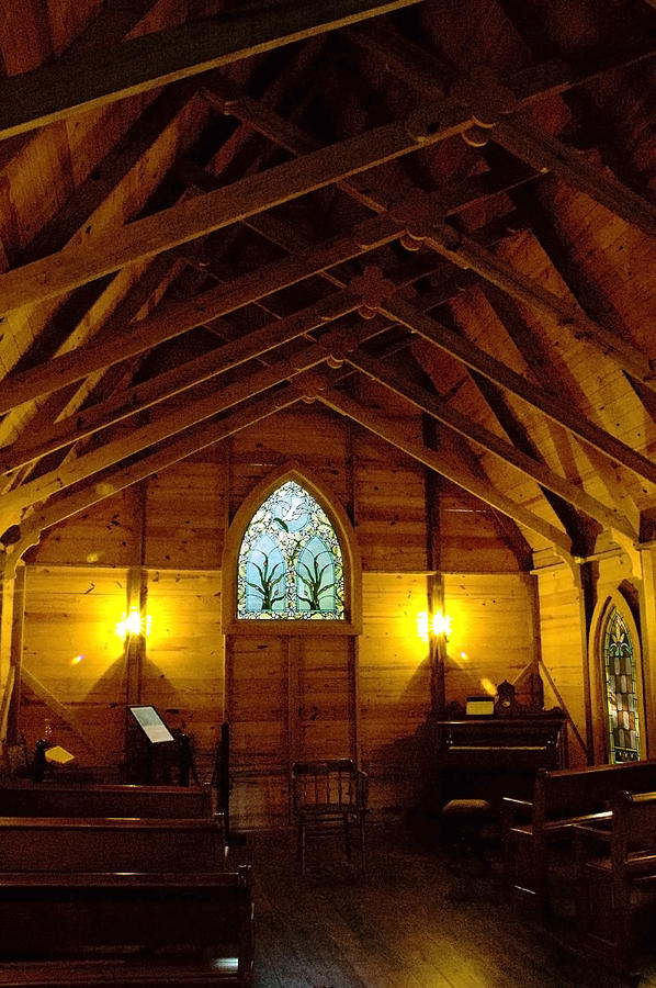 Stained Glass Photograph - A Place to Worship by Norman Johnson