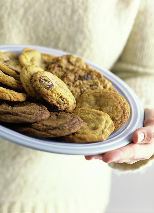 A Plate Of Cookies Photograph by Romulo Yanes