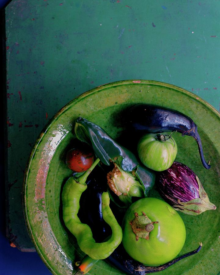 A Plate Of Vegetables Photograph by Romulo Yanes