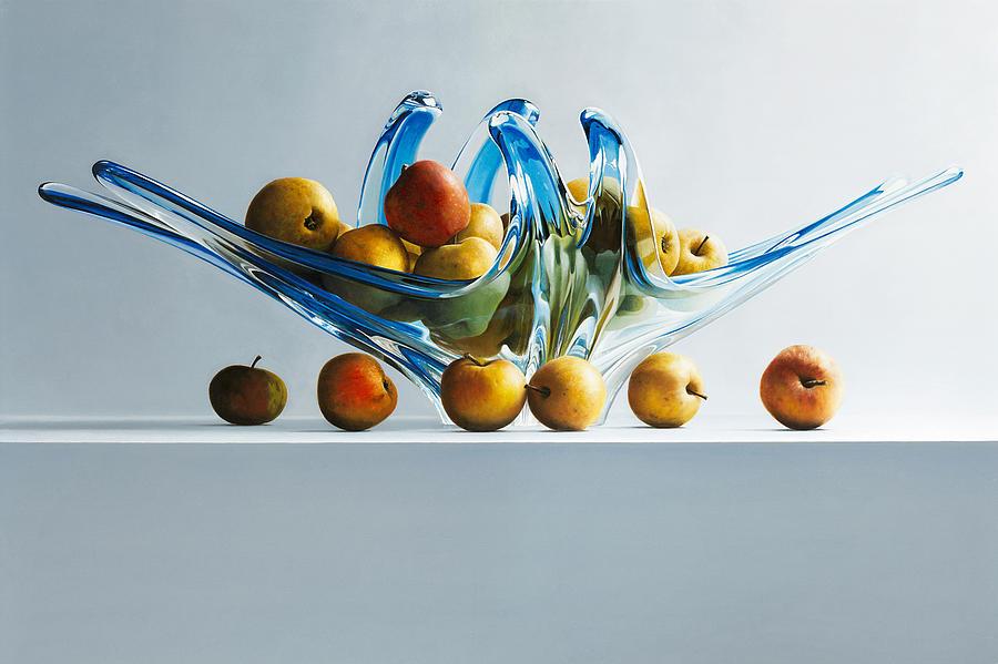 Apples Painting - A Poor Mans Apple by Mark Van crombrugge