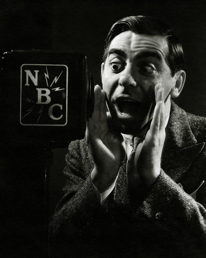 A Portrait Of Eddie Cantor Speaking Photograph by George Hoyningen-Huene