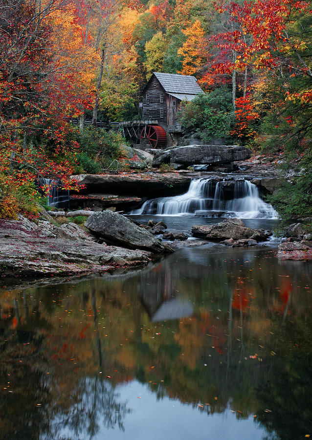 Glades Creek Grist Mill Photograph - A Portrait Of Glades Creek by Wayne Stacy