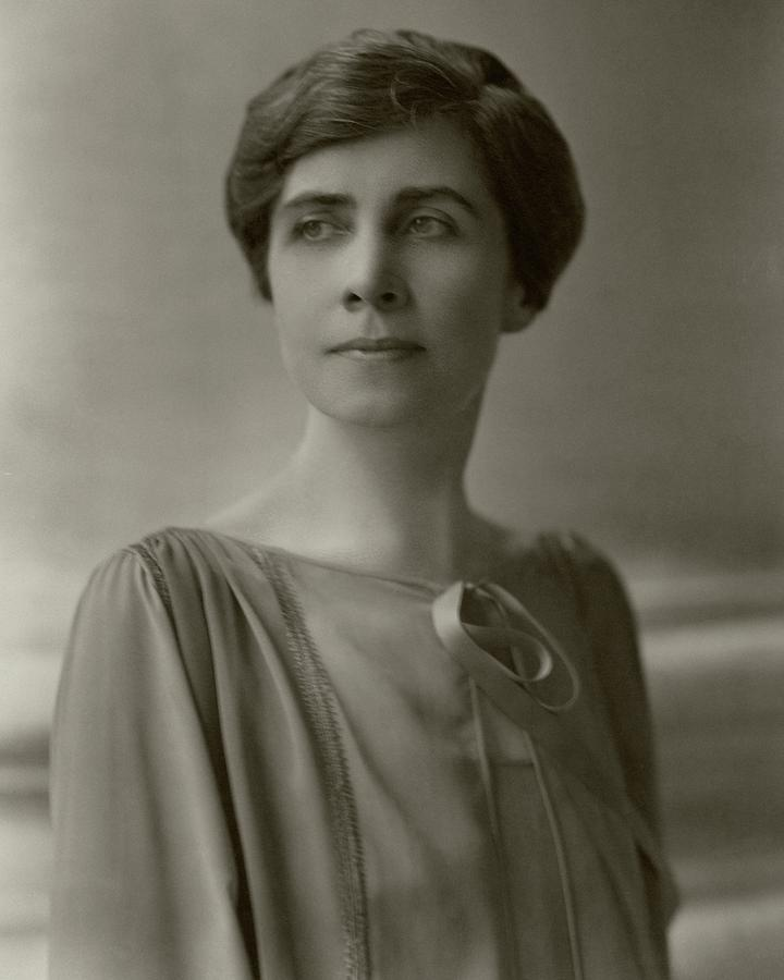 Education Photograph - A Portrait Of Grace Coolidge by Nickolas Muray