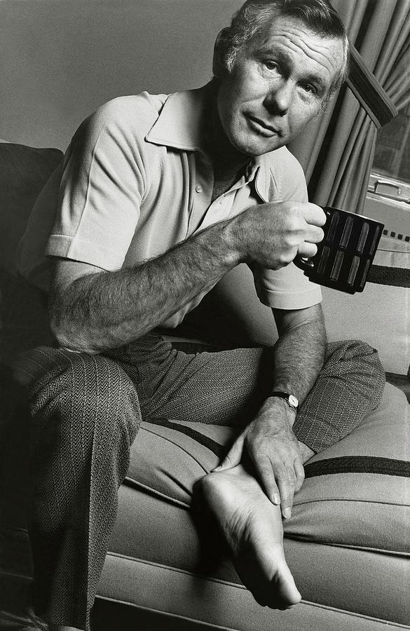 A Portrait Of Johnny Carson Sitting Photograph by Bruce Bacon