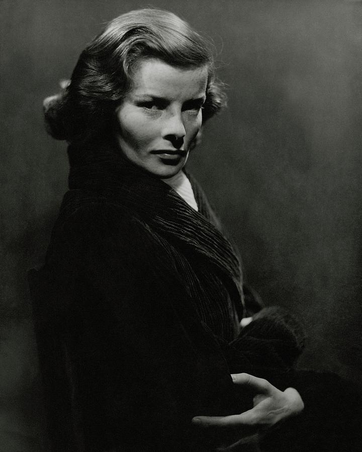 A Portrait Of Katharine Hepburn With Her Arms Photograph by Lusha Nelson