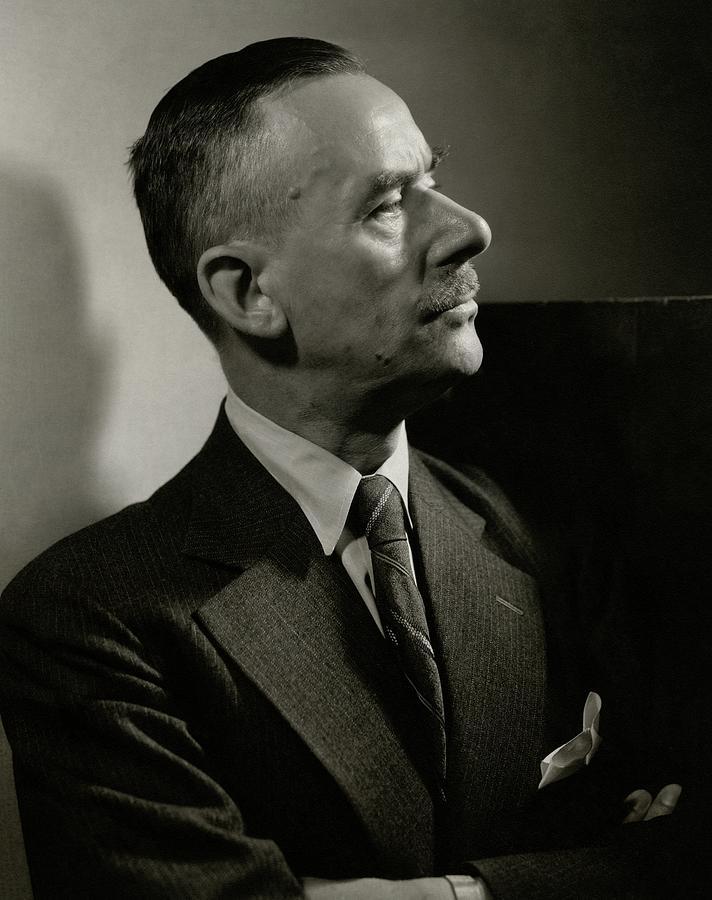 A Portrait Of Thomas Mann Photograph by Edward Steichen