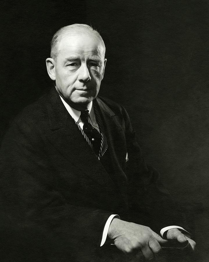 A Portrait Of Thomas W. Lamont Photograph by Edward Steichen