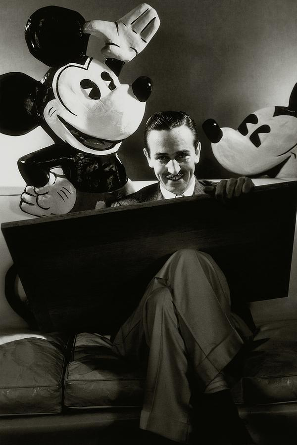 A Portrait Of Walt Disney With Mickey And Minnie Photograph by Edward Steichen