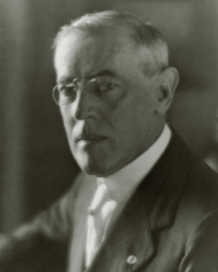 A Portrait Of Woodrow Wilson Photograph by Arnold Genthe