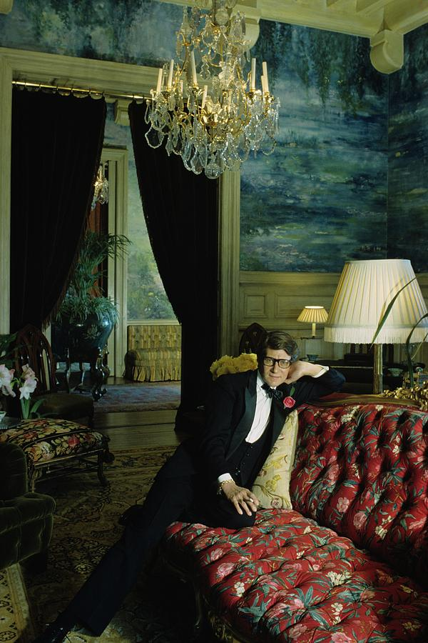A Portrait Of Yves Saint Laurent At His Home Photograph by Horst P. Horst