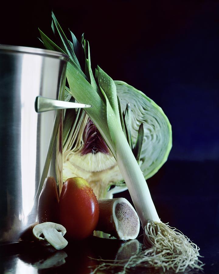 A Pot With Assorted Vegetables Photograph by Fotiades