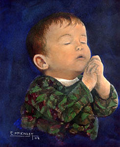 A Prayer For Daddy Painting by Carl McKinley