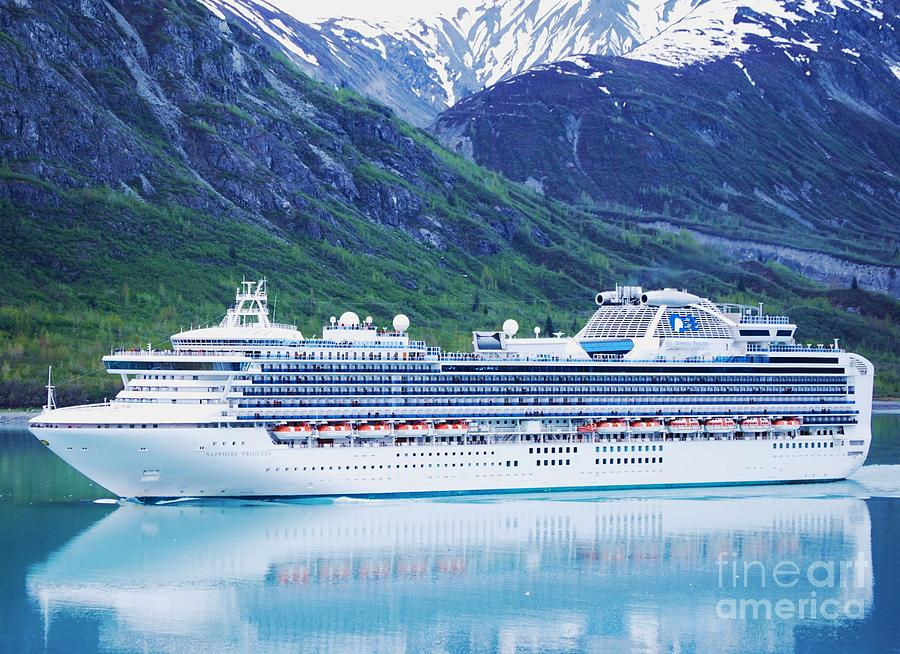 Cruise Ship Photograph - A Princess In Alaska Vision  # 2 by Marcus Dagan