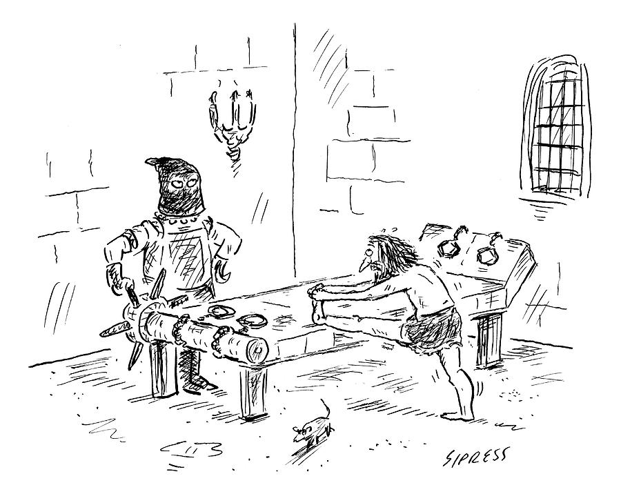 A Prisoner Is Seen Stretching On A Torture Rack Drawing by David Sipress