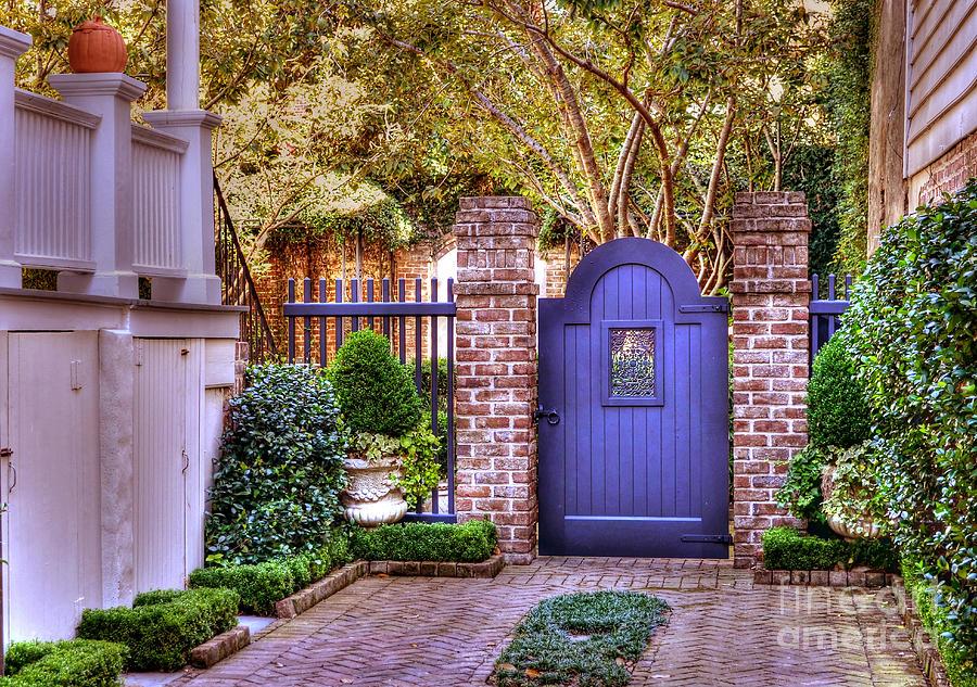 Garden Photograph - A Private Garden In Charleston by Kathy Baccari