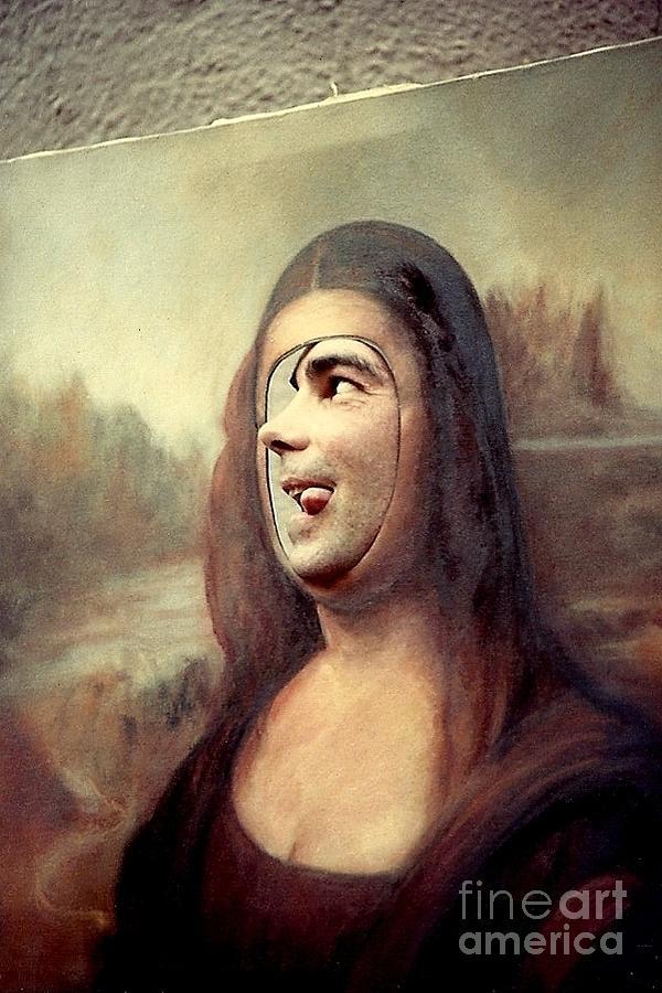 Mardi Gras Costumes Photograph - A Profile Of Mona Lisa by Michael Hoard