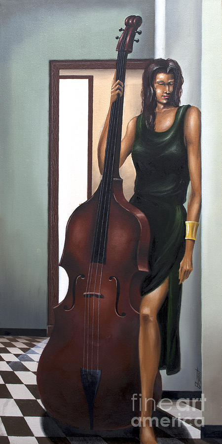 Music Painting - A Quiet Moment by Clement Bryant