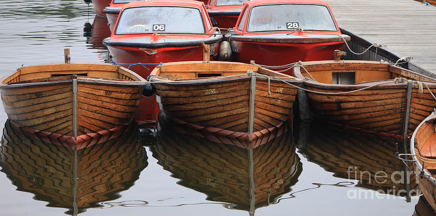 Boats Photograph - A Quiet Morning by Wobblymol Davis