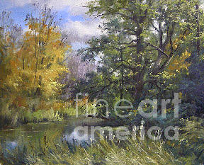 Vermont Painting - A Quiet Place On The Poultney River by Andrew Orr
