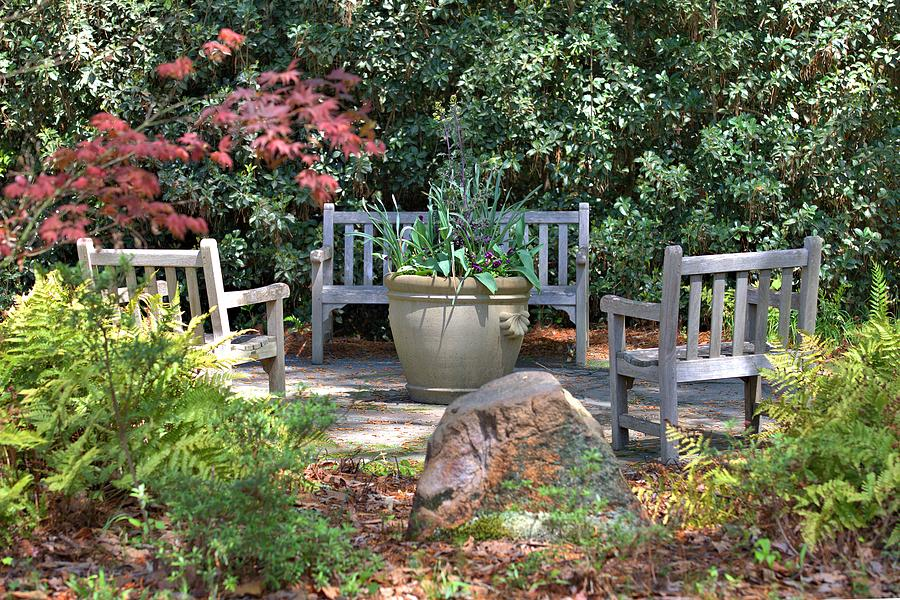 Chairs Photograph - A Quiet Place To Meet by Gordon Elwell