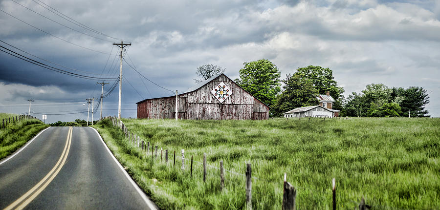 Barn Photograph - A Quilted Barn by Heather Applegate