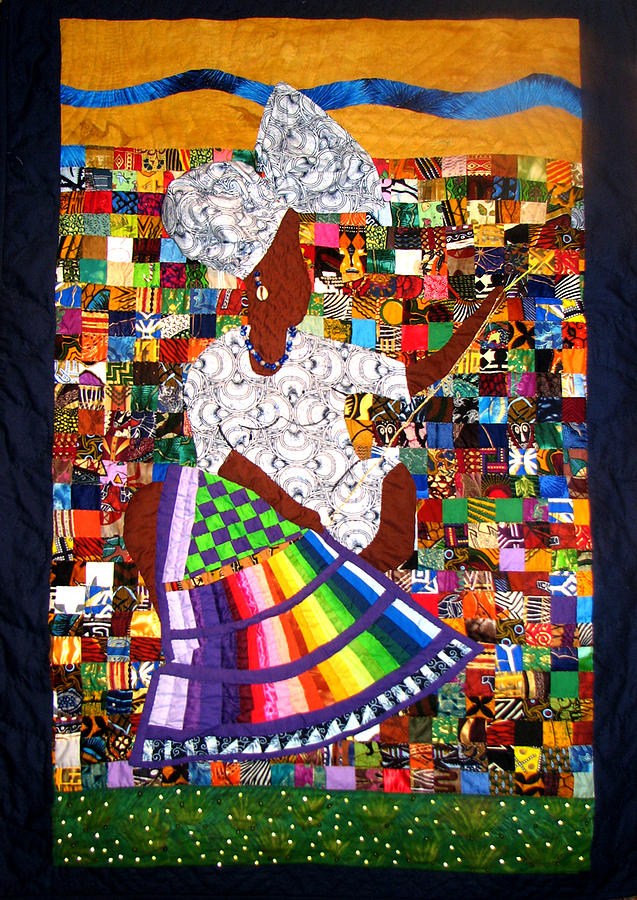 Art Quilt Tapestry - Textile - A Quilters Dream by Aisha Lumumba