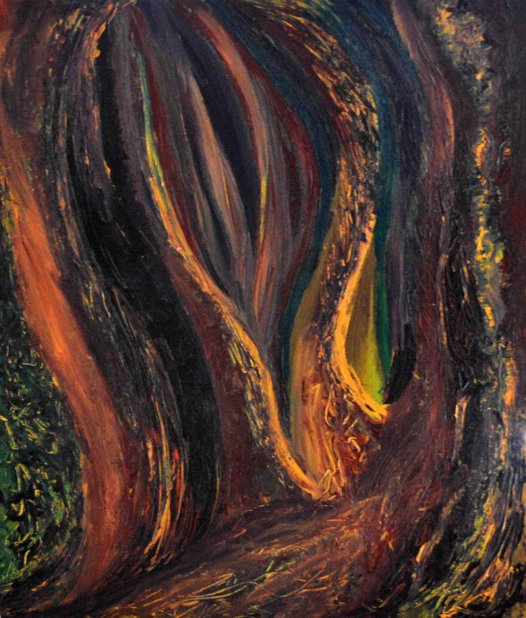 Daina Painting - A Radiant Heart Light by Daina White