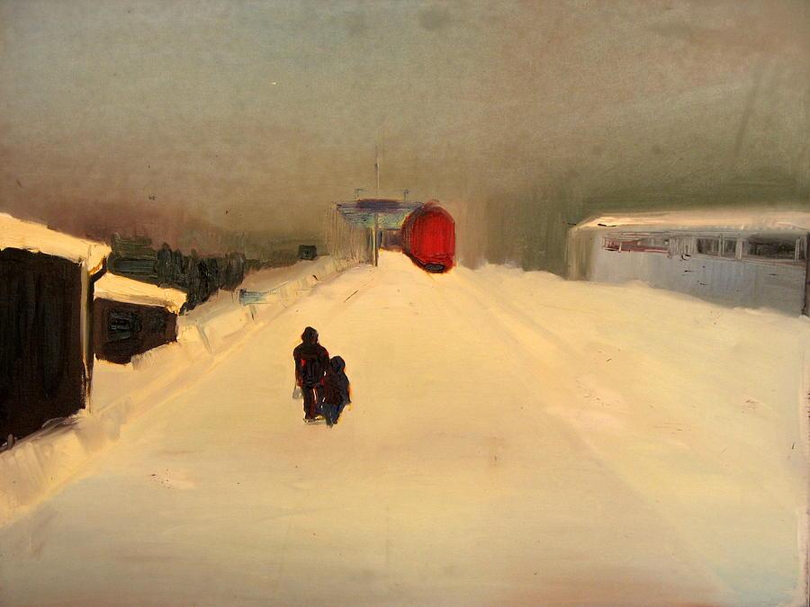 Landscape Painting - A Railway Impression II by Marta Zamarska