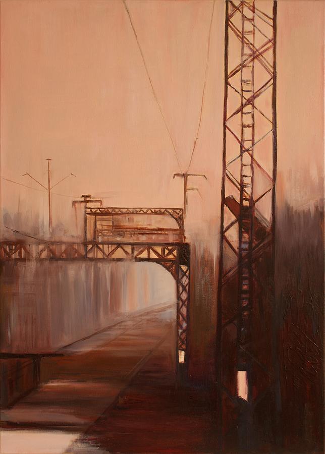 Train Painting - A Railway Impression X by Marta Zamarska
