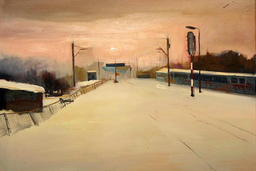Train Painting - A Railway Impression XII by Marta Zamarska