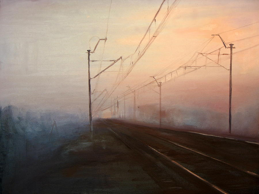 Train Painting - A Railway Impression XIII by Marta Zamarska