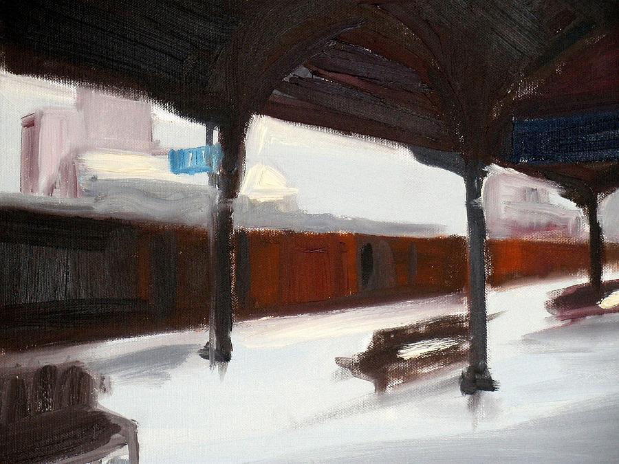Landscape Painting - A Railway Impression XIX by Marta Zamarska