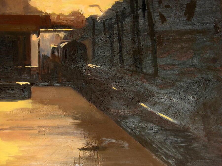 Landscape Painting - A Railway Impression XV by Marta Zamarska