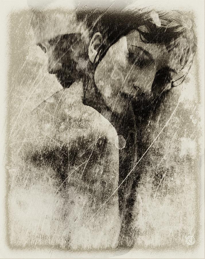 Couple Digital Art - A Rainy Day We Need Closeness by Gun Legler