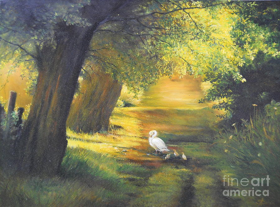 Summer Painting - A Ray Of Sunshine  by Sorin Apostolescu