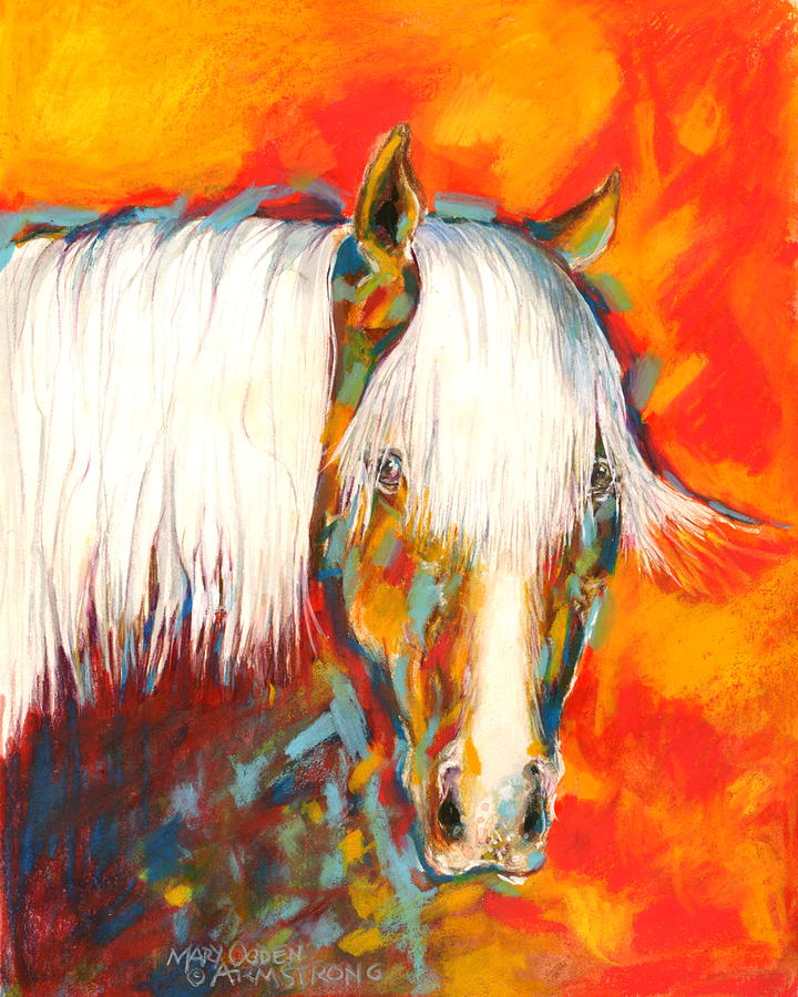 Animal Painting - A Red Hot Head by Mary Armstrong