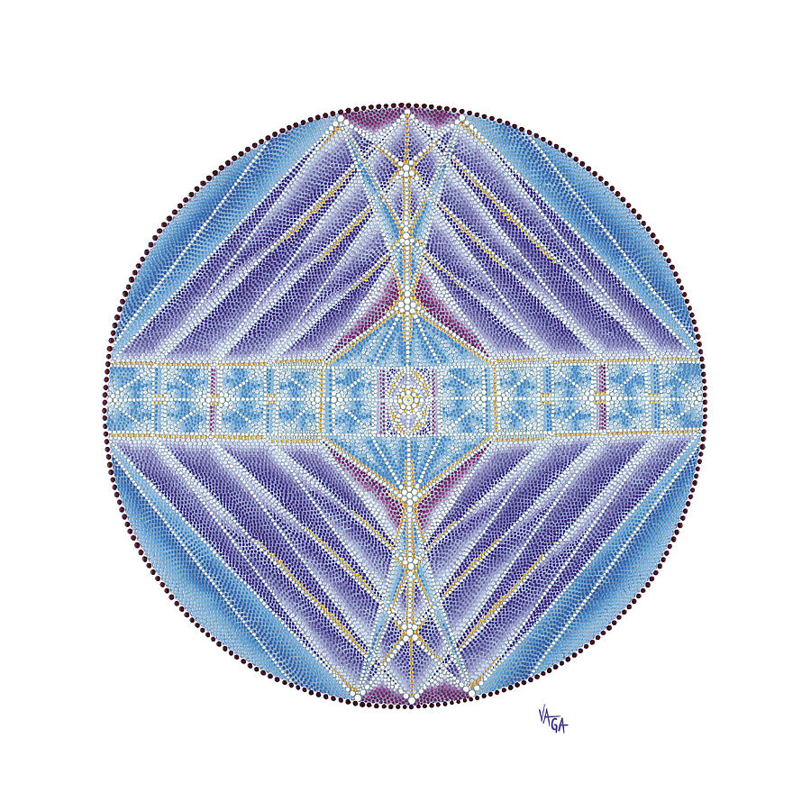 Mandala Painting - A Reflection Of Love by Vanda Omejc