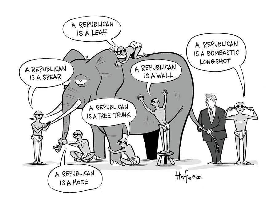 A Republican Is A Bombastic Longshot Drawing by Kaamran Hafeez