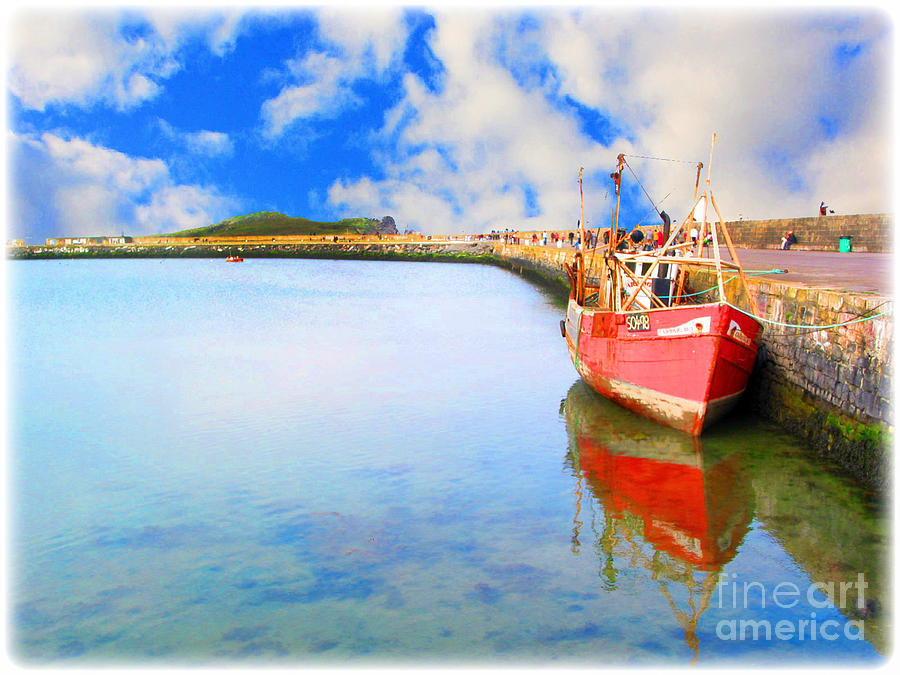Boat Photograph - A Resting Boat Howth Ireland by Jo Collins
