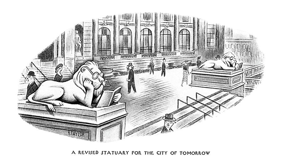Revised Statuary Drawing by Richard Taylor